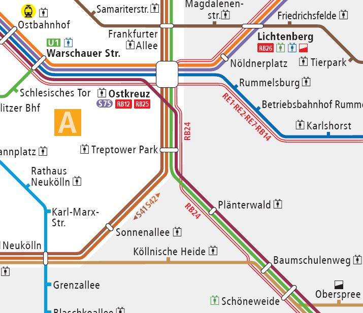 Lupe Ostkreuz S-Bahn