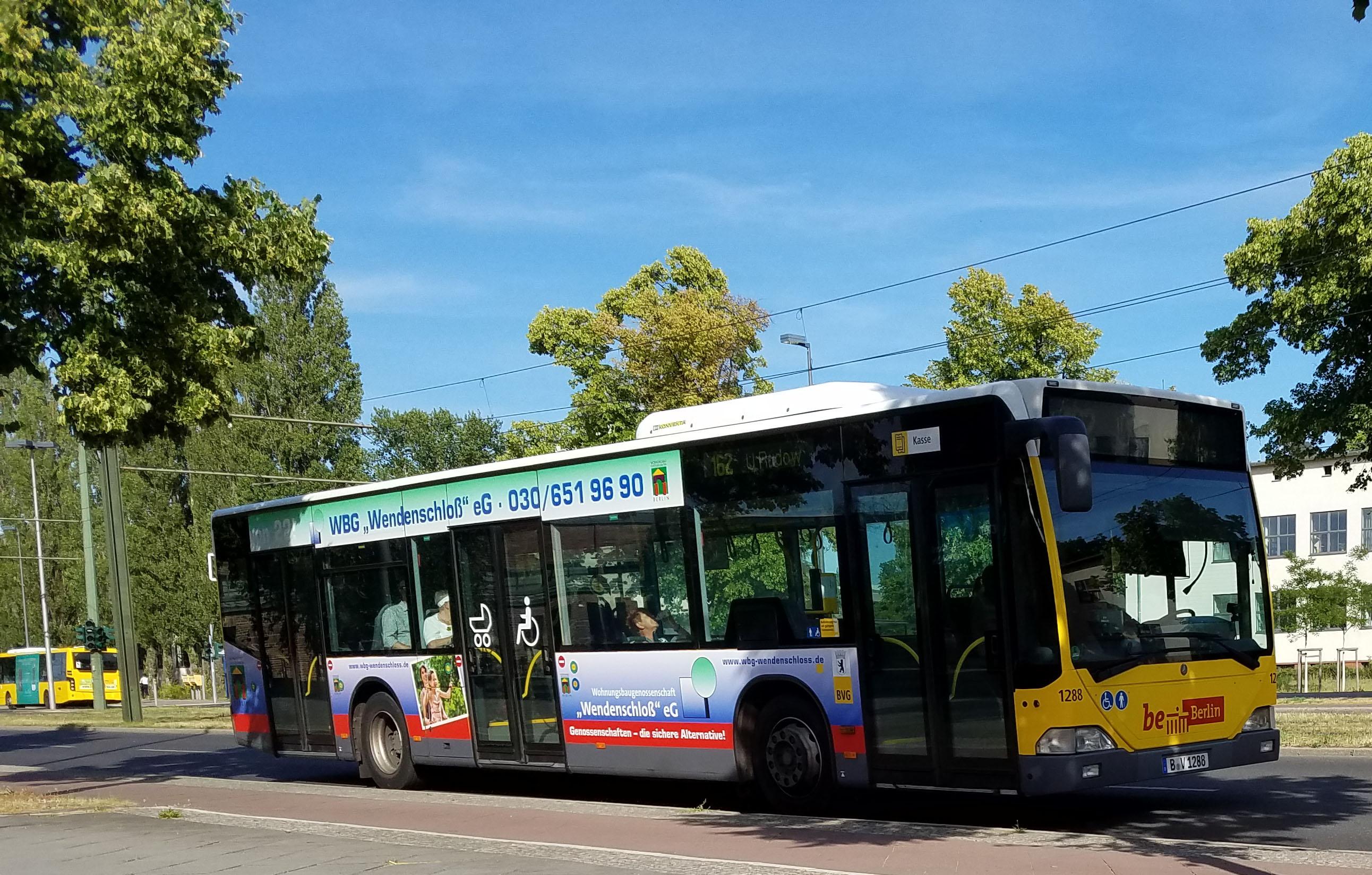 Foto: Bus 1288, Typ Citaro O530, Adlershof, Juni 2017