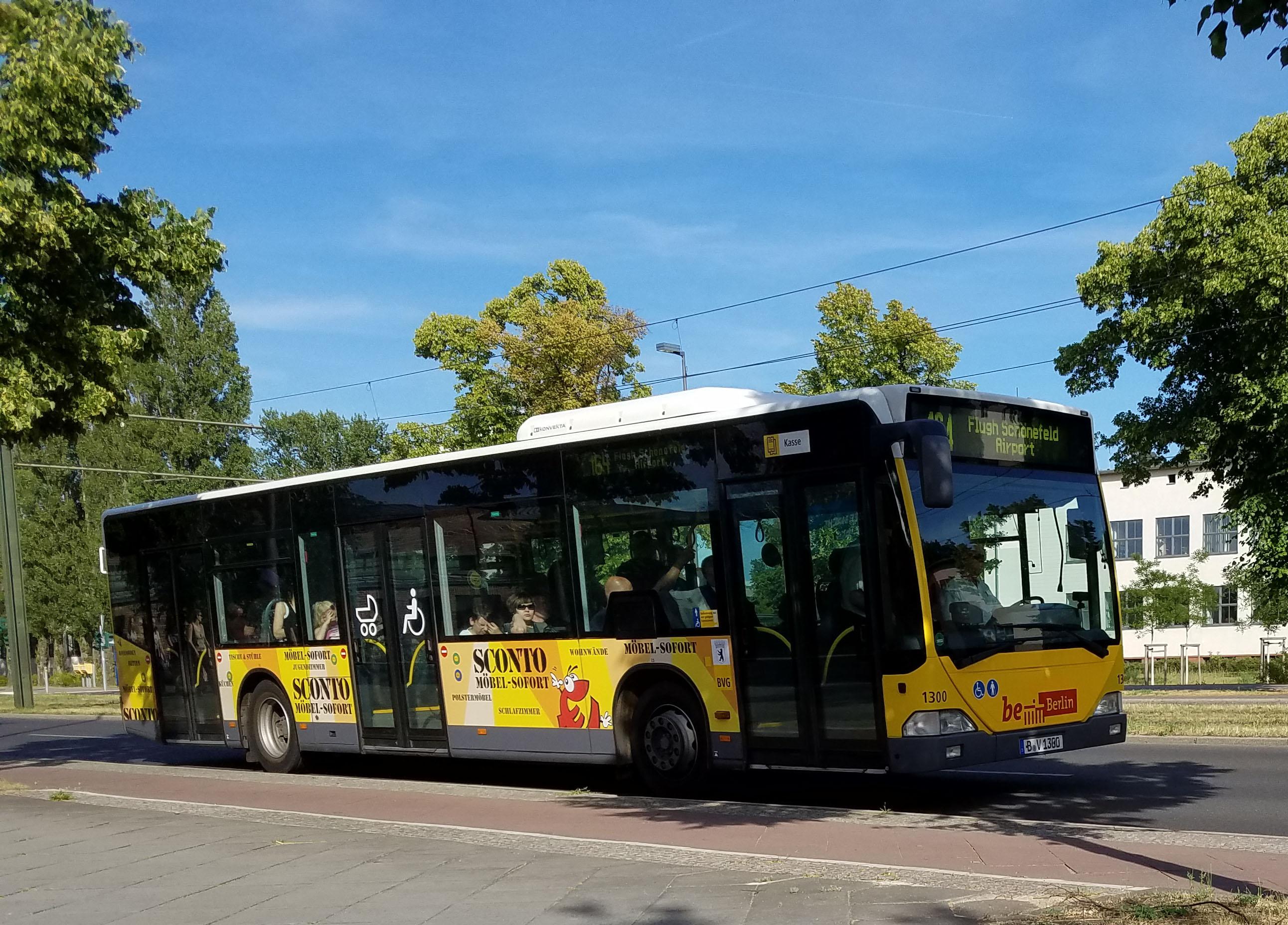 Foto: Bus 1300, Typ Citaro O530, Adlershof, Juni 2017
