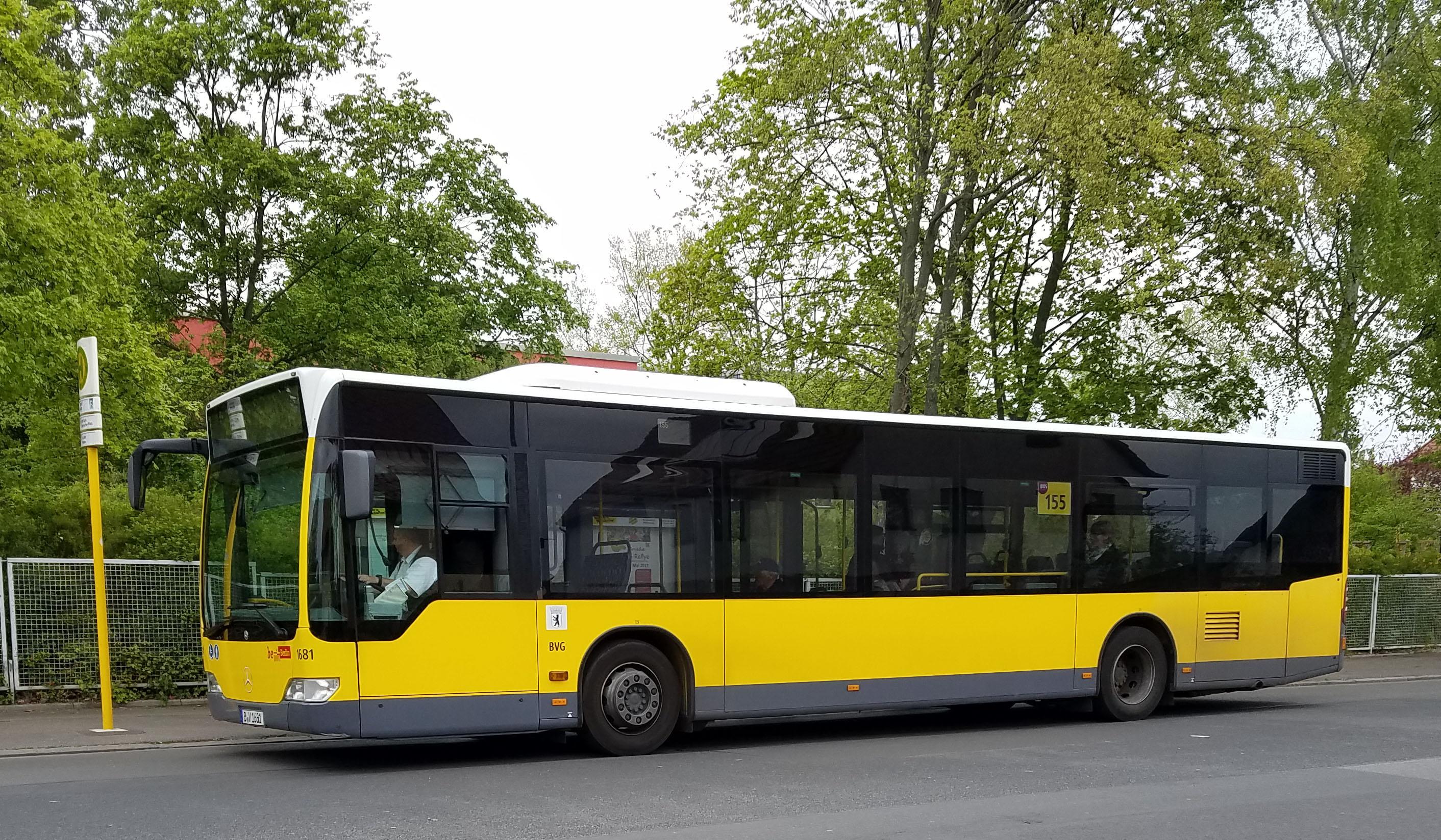 Foto: Bus 1681, Typ Citaro O530, Wilhelmsruh, Mai 2017