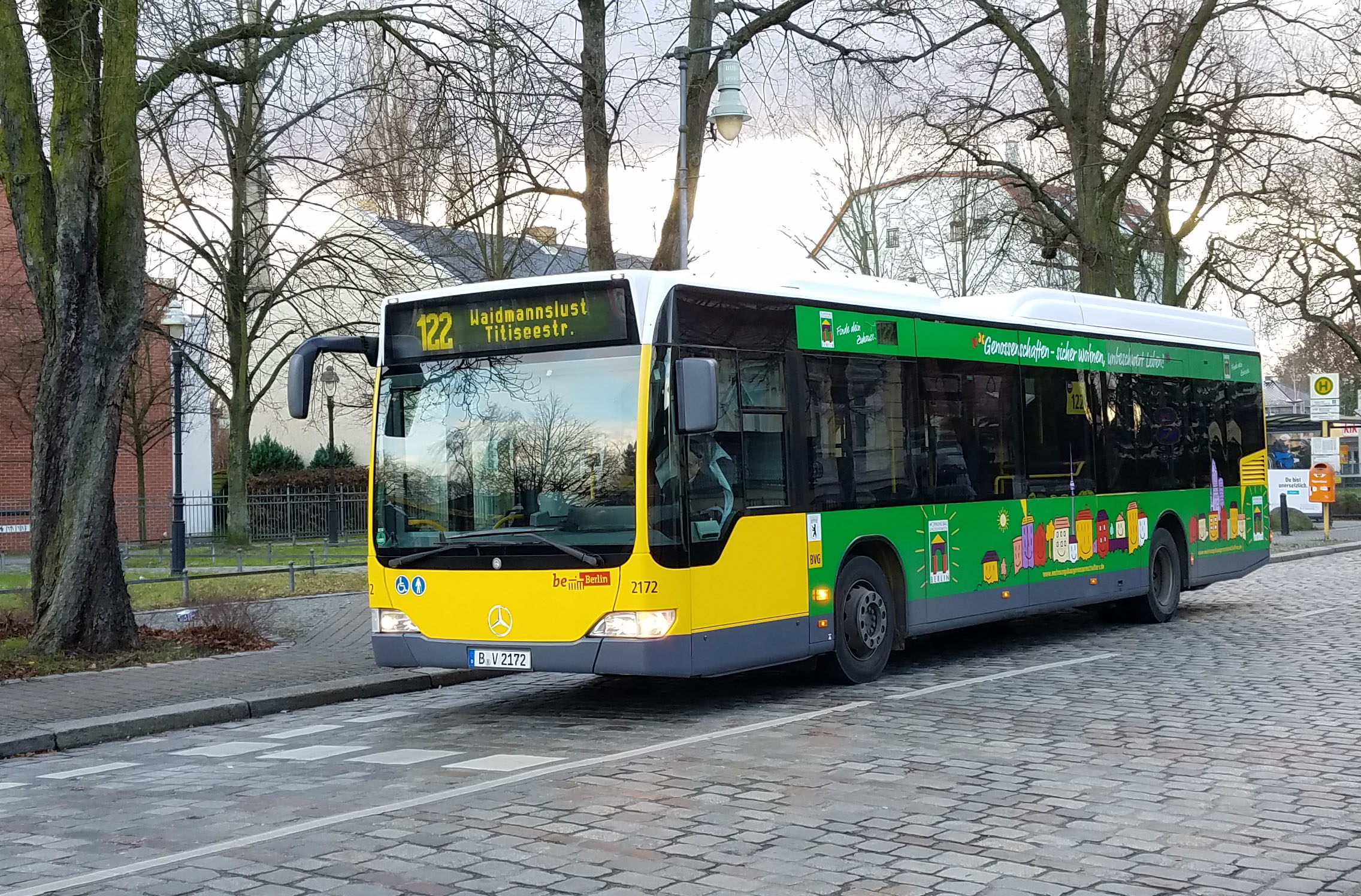Foto: Bus 2172, Typ Citaro O530LE, Wilhelmsruh, Januar 2018