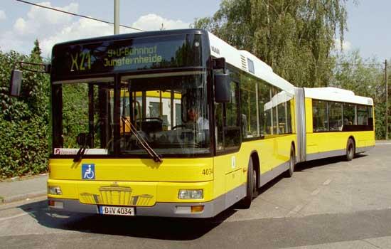 Bus 4034, Typ MAN GN 03(NG 313), Wittenau, 2004