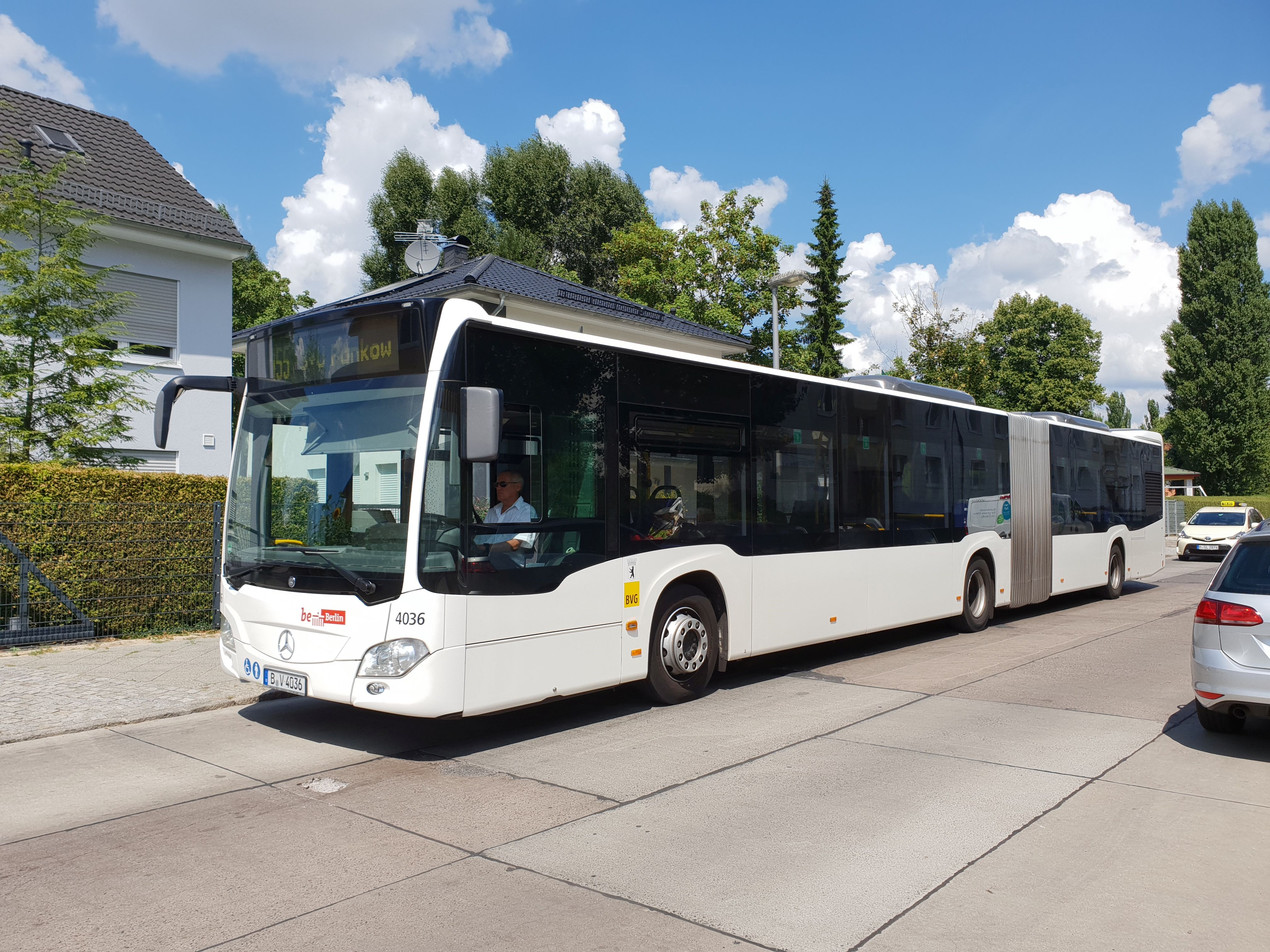 Bus 4036, Typ Citaro GN C2, Wilhelmsruh, Juli 2018