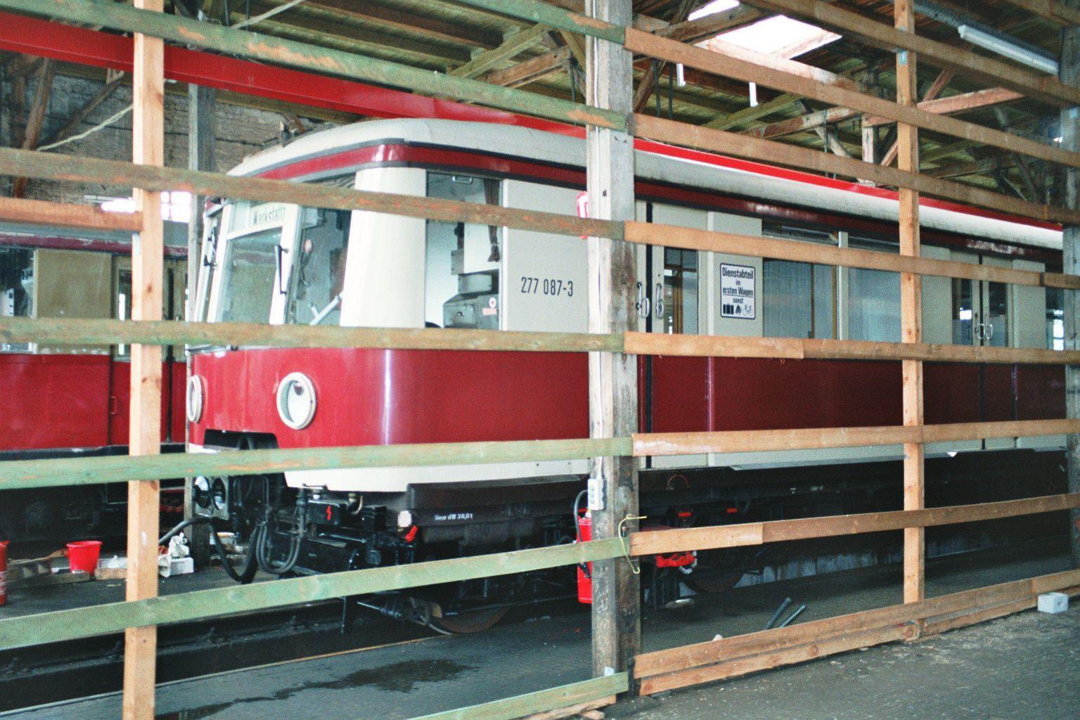 S-Bahn 277 087, Bauart 1938/1941, ex 167 072, Baureihe 167, Hundekehle, 1994