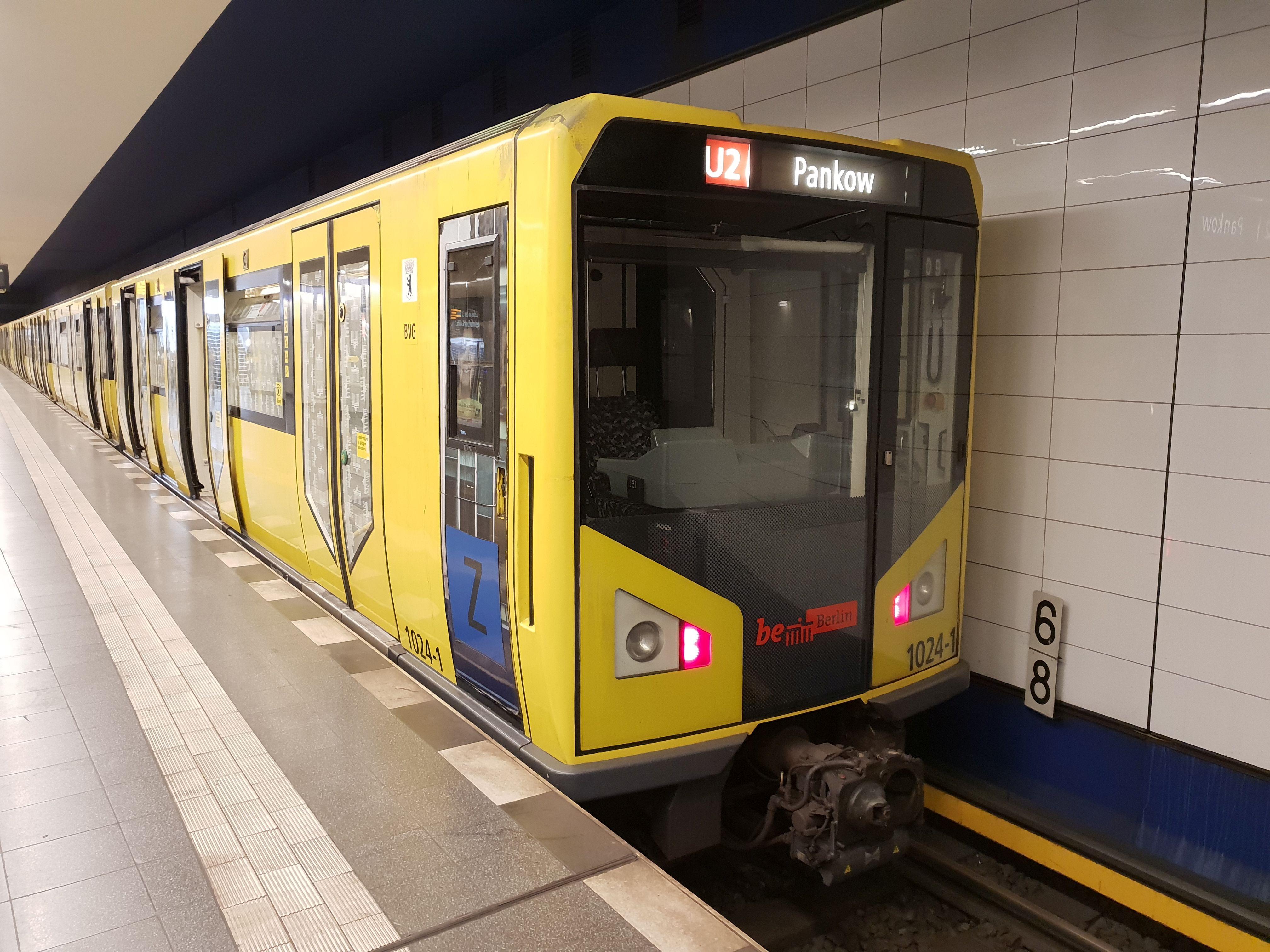 U-Bahn 1024-1, Baureihe HK, Berlin-Pankow, August 2018