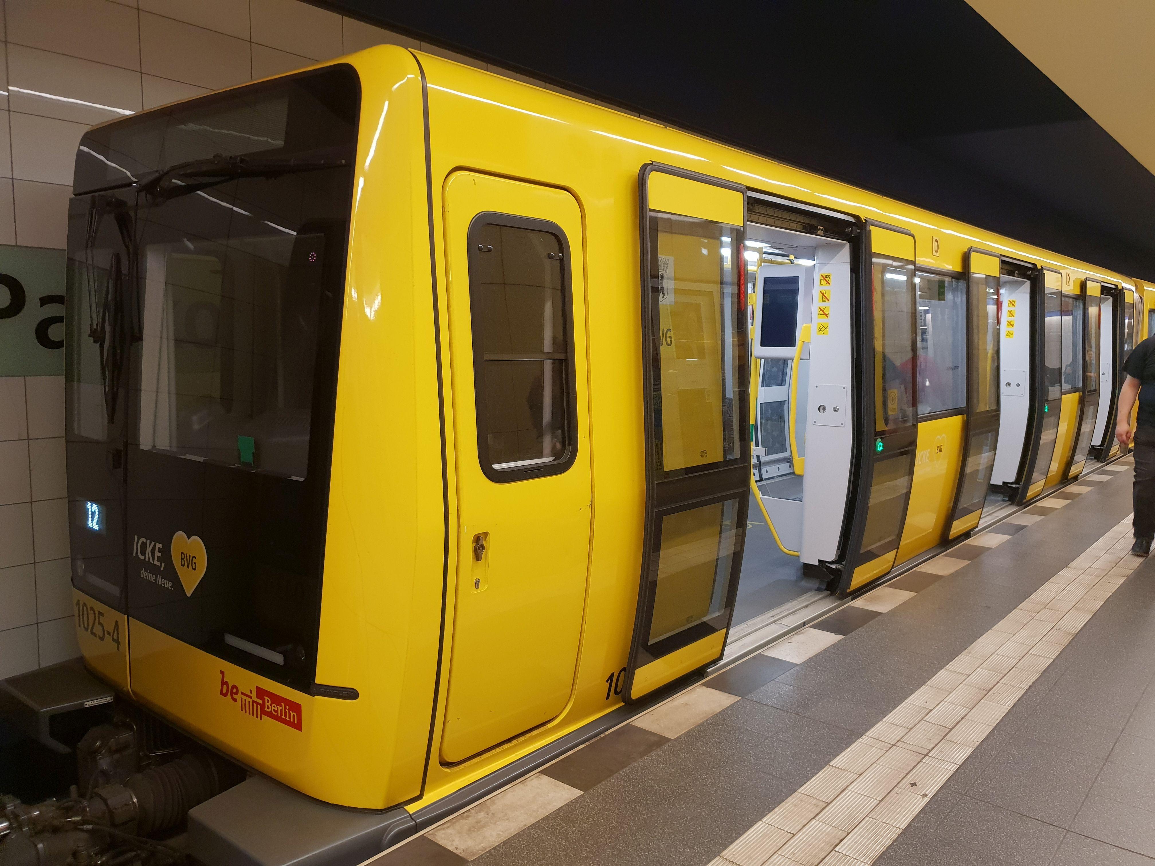 U-Bahn 1025-4, Baureihe IK, Prototyp IK, Berlin-Pankow, September 2018