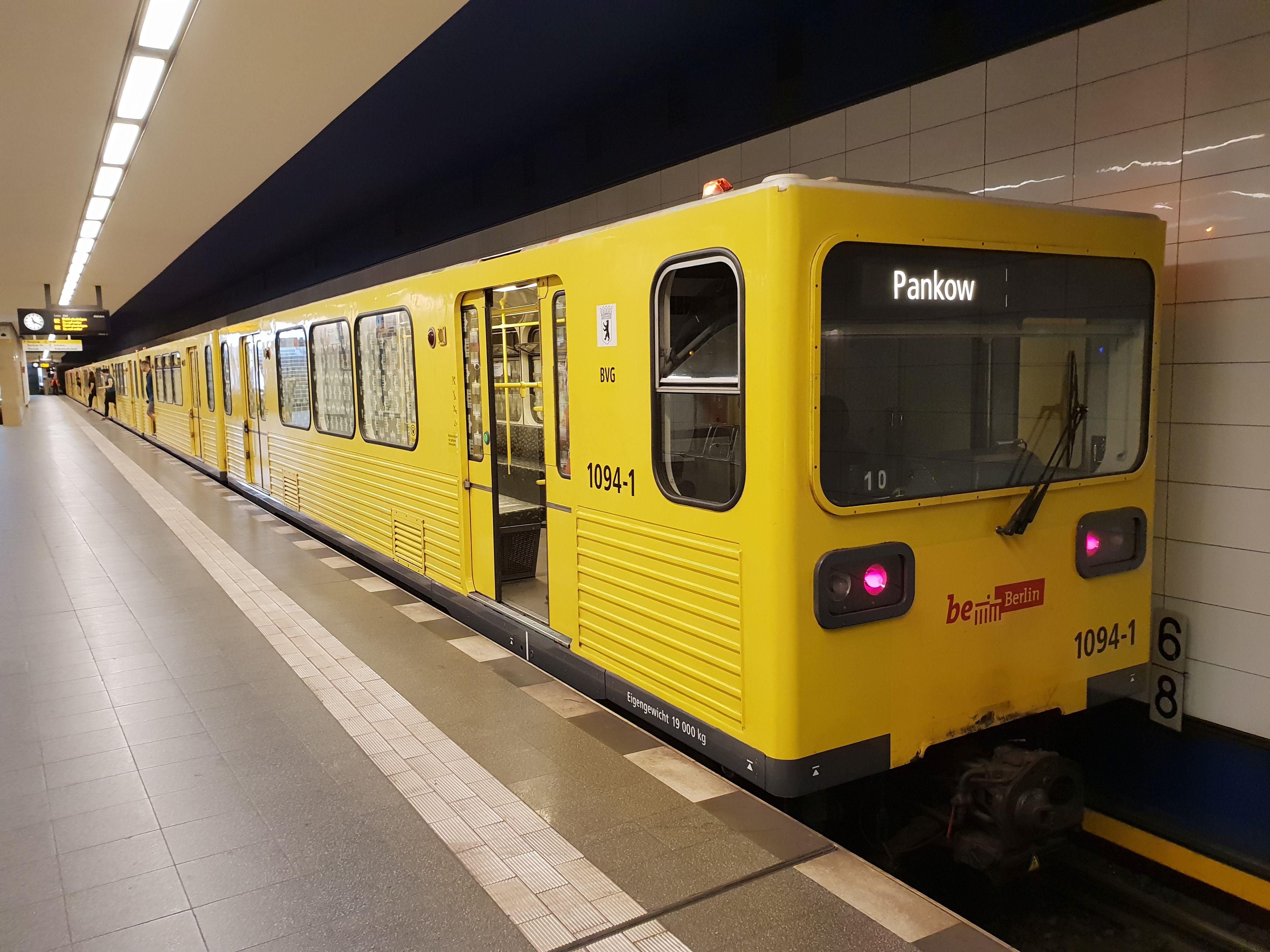 U-Bahn 1094, Baureihe G, Berlin-Pankow, August 2018