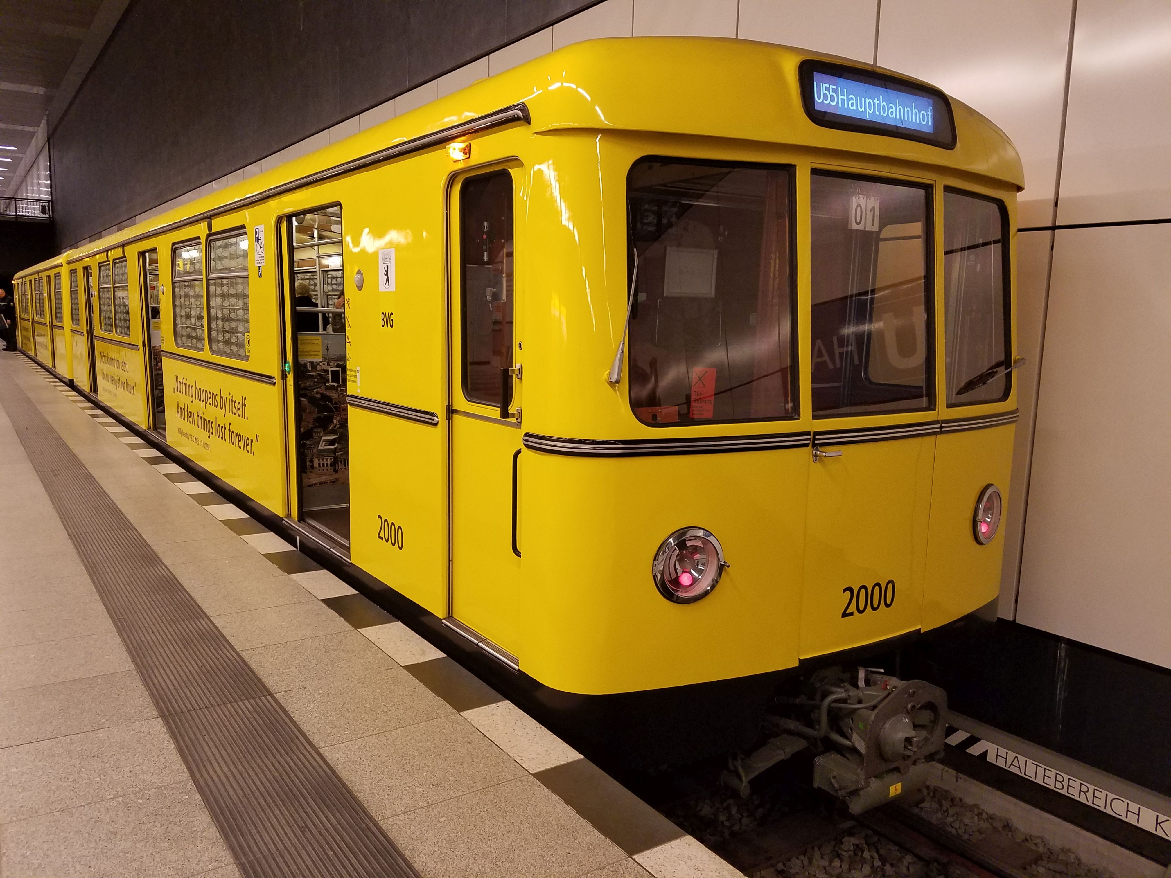 U-Bahn 2000, Baureihe D, Berlin Hbf, Januar 2018