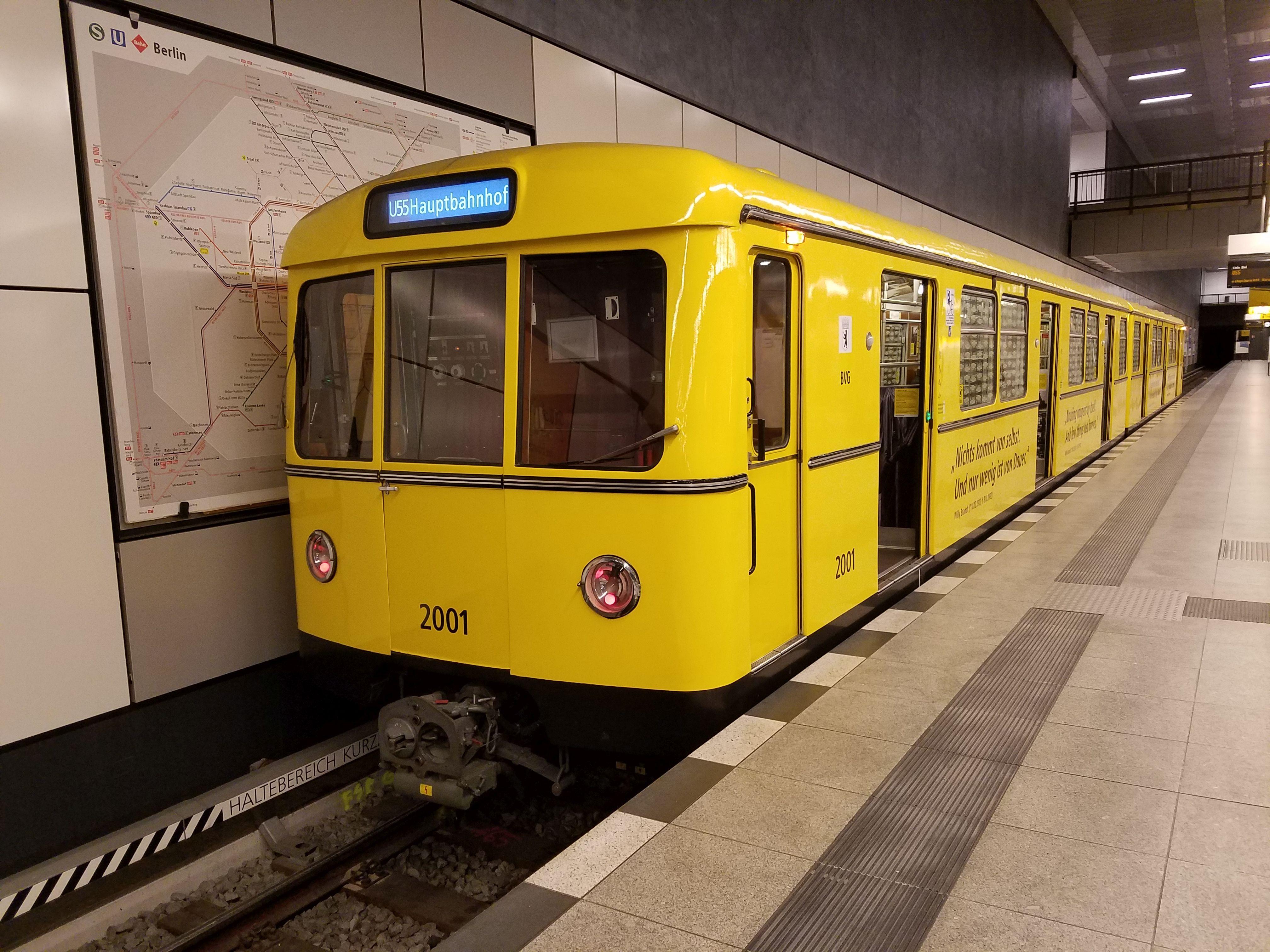 U-Bahn 2001, Baureihe D, Berlin Hbf, Januar 2018